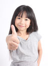 Thump up portrait of cute girl Royalty Free Stock Photo