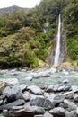 Thunder creek fall New Zealand Royalty Free Stock Photo