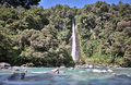 Thunder Creek Falls (New Zealand) Royalty Free Stock Photo