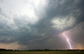Thunder and lightning at the end of a hot moistly day in the netherlands Stock Photography
