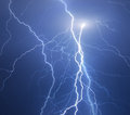 Thunder lightning huge summer storm Stock Photo