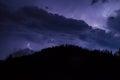 Thunder over the mountain Royalty Free Stock Photo