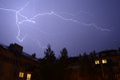 Thunder storm lighting Royalty Free Stock Photo