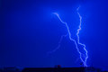 Thunderbolt night sky with beautiful thunder Stock Image