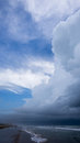 Thunderclouds on the beach Royalty Free Stock Photo