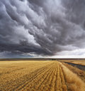 Thunderclouds.  Montana, the USA Royalty Free Stock Image