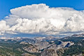 Thunderhead above Yosemite high country, Yosemite National Park, Royalty Free Stock Image