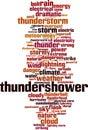 Thundershower word cloud Royalty Free Stock Photo