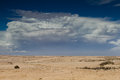 Thunderstorm approaching over the desert namibia africa Stock Image
