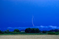 Thunderstorm in bavaria germany during summer time Royalty Free Stock Image