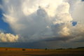 Thunderstorm cloud towering cumulus developing into a Royalty Free Stock Photography