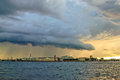 Thunderstorm clouds over St. Petersburg Stock Photo