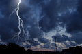 Thunderstorm a dramatic sky view Royalty Free Stock Photo