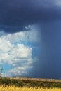 Thunderstorm landscape of a over the plains Stock Photography