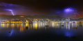 Thunderstorm over Portugalete Royalty Free Stock Photo