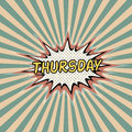 Thursday day week, Comic sound