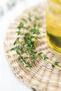 Thyme and oil Royalty Free Stock Photography
