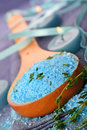 Thyme scented bath salts Royalty Free Stock Photo