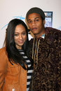 Tia mowry fiance the grand premiere cinerama dome arclight theaters los angeles ca march Royalty Free Stock Image