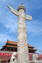 Tian anmen ornamental columns built in the th reign year of yongle of the ming dynaty the are important complements of Royalty Free Stock Images