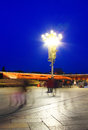 Tian anmen square beijing tiananmen sunny at night Royalty Free Stock Image