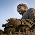 Tian tan buddha the big in hong kong Royalty Free Stock Photography