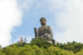 The tian tan buddha in hong kong Stock Photography