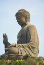 Tian tan buddha in ngong ping temple Stock Photo