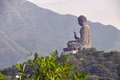 Tian tan buddha at po lin monastery in hong kong lantau island Royalty Free Stock Photos