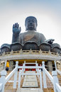 Tian tan buddha statue in ngong ping Royalty Free Stock Images