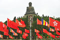 Tian Tan Buddha - The worlds's tallest outdoor seated bronze Bud Royalty Free Stock Photography