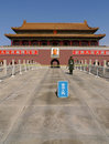 Tiananmen Gate to the Forbidden City in Beijing Stock Photography