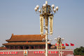 Tiananmen gate tower to the forbidden city beijing china north of square Stock Photography