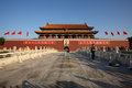 The tiananmen square is located in downtown beijing china southern end of imperial palace is front gate of imperial city Stock Photo