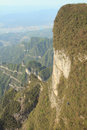 Tianmen mountain complicated must evenings sunshine Stock Photos