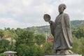 TIANSHUI, CHINA - OCT 6 2014: Statues of Zhuge Liang in Tianshui Royalty Free Stock Photo