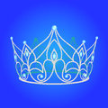 Tiara women  wedding with blue jewels Royalty Free Stock Photography