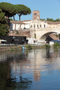 Tiber Island in Rome Royalty Free Stock Photo
