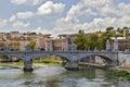 Tiber River in Rome. Royalty Free Stock Photo