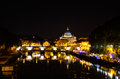 Tiber in rome by night photo of the during the summer Royalty Free Stock Image