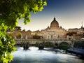 Tiber and St Peter Basilica