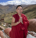 Tibet - Buddhist Monk - Himalayas Royalty Free Stock Photography