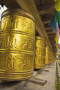 Tibet prayer wheels Royalty Free Stock Photography