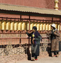 Tibet - Prayer Wheels - Gyantse Kumbum Royalty Free Stock Image