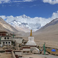 Tibet: rongbuk monastery Royalty Free Stock Photography