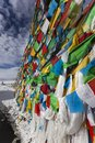 Tibet: tibetan prayer flags Royalty Free Stock Images