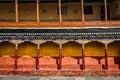Tibetan architecture in thiksey monastery arcade gompa buddhist ladakh india Stock Photo