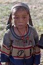 Tibetan boy from Dolpo, Nepal Stock Photos