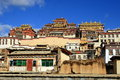 Tibetan buddhism temple, Songzanlin Lamasery, in Yunnan Province China Royalty Free Stock Photo
