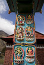 Tibetan buddhist art tengboche monastery Stock Photos